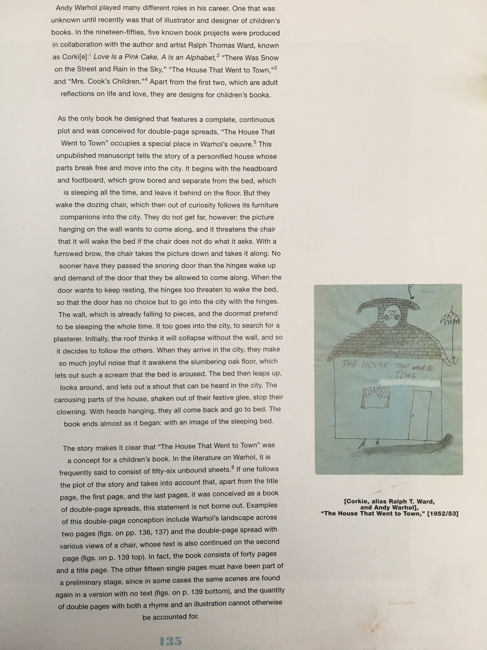 essay about  The House That Went to Town  by Andy Warhol