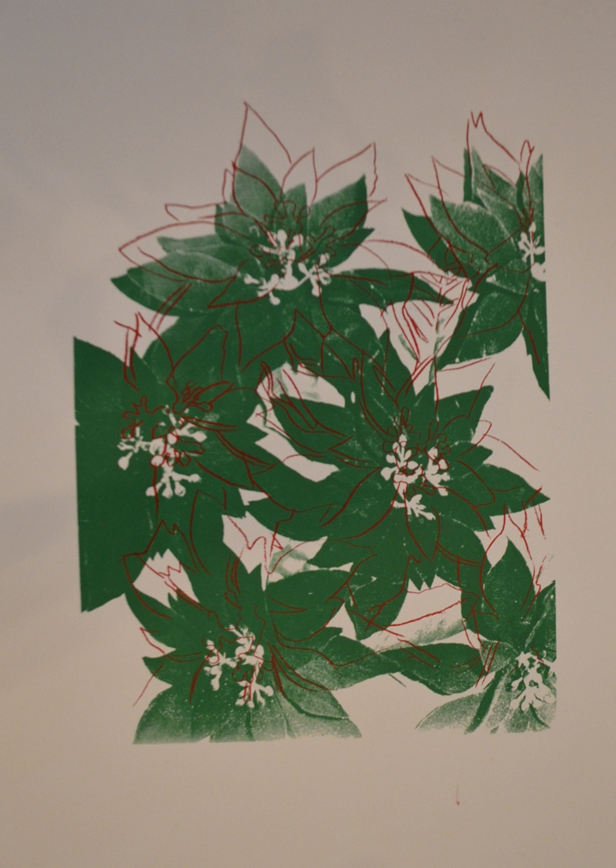 additional information for andy warhol's red and green poinsettias