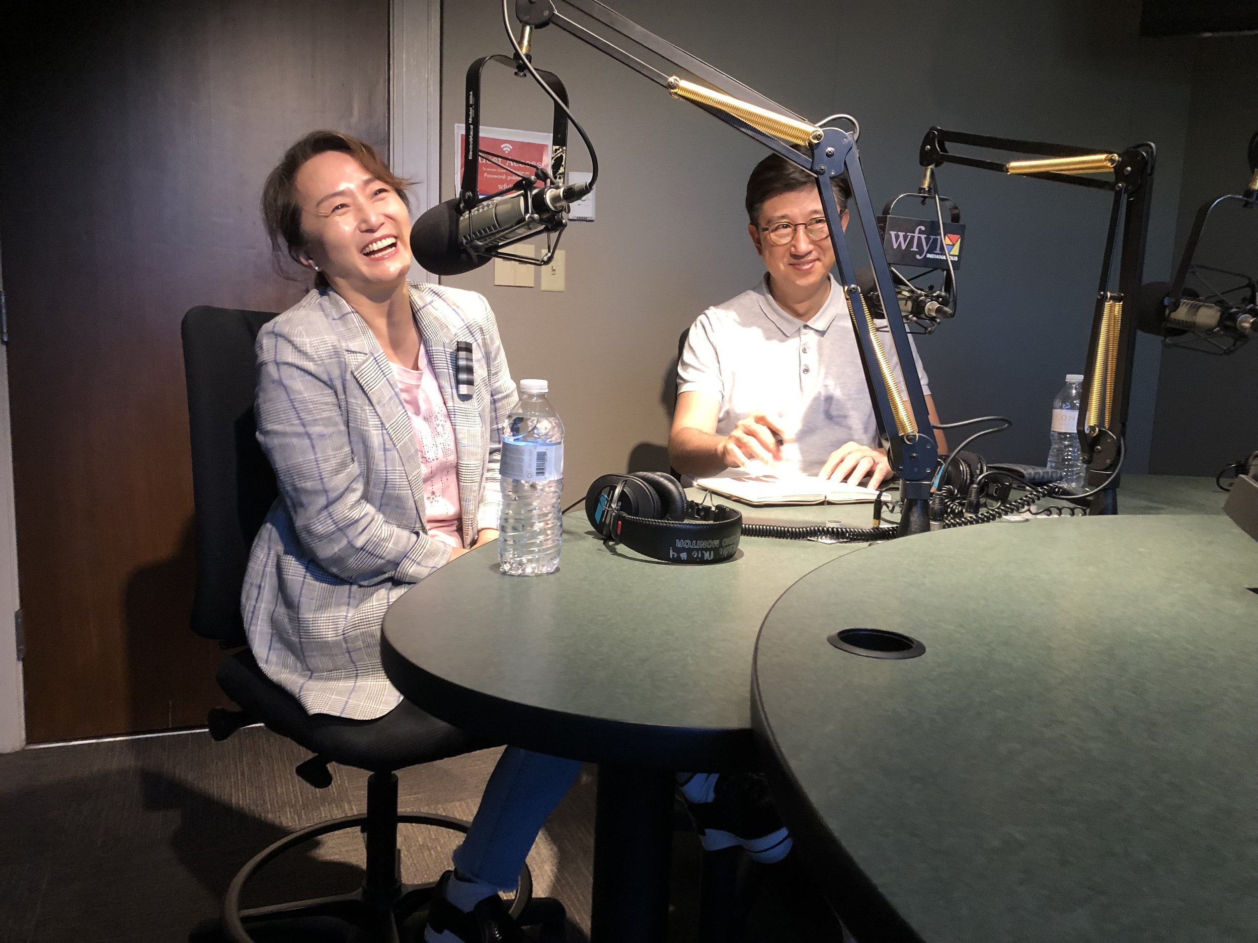 Cha Jong Rye and Stephen interview at WFYI