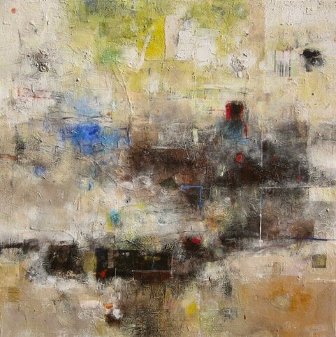 Mixed media on canvas by Tamar Kander