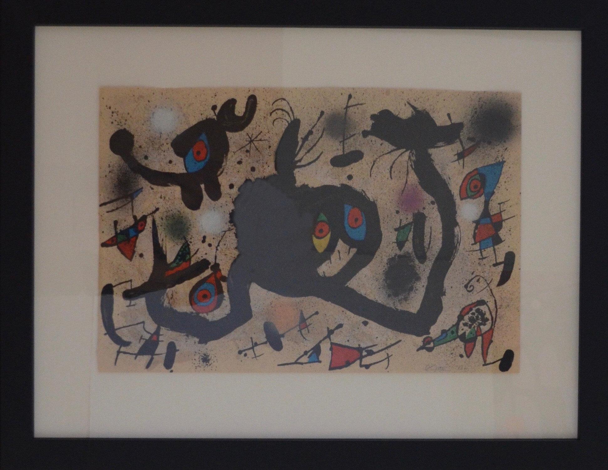 Lithograph on Guarro watermarked Miró paper,  El Vol de L'Alosa  by Joan Miró