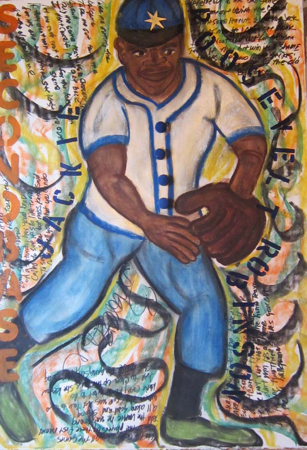 Jackie Robinson by Morgan Monceaux