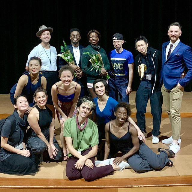 "'Twas a season of work, beauty, sentimentality, and group photos. Thanks to all of the dancers, musicians, and beautiful people that made each ""gig"" feel like much more than that. Onwards and upwards 💫💫 @reginaspektor #Broadway / @newvictorytheater / @jacobspillow / @swingremix / @lincolncenter #OutOfDoors / @museoguggenheim #SwingBilbao 💥"