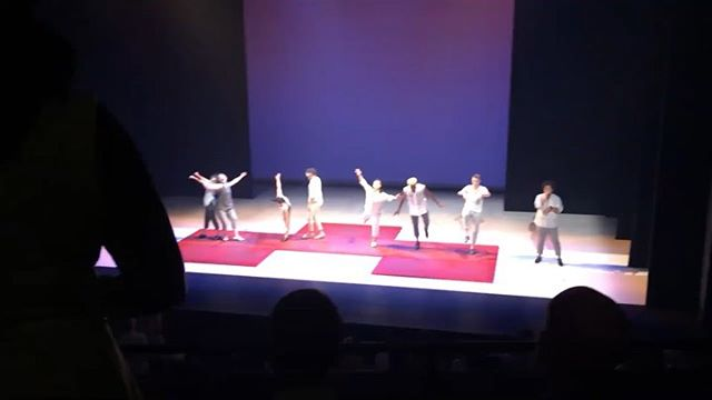 """I'm a bit late, but WOW #FallForDance at @nycitycenter was awesome. Super grateful to the #CTandCo team that made the expansion of #Bzzzz so fun. Thanks to the audiences who laughed, cheered, and """"woo!""""ed with us. 1- The final moment of the bow captured by Margaret Batiuchok 2/3- Great photos by @gracekathrynphotos  4/5- a snippet of a really nice review by @giadk for @nytimes #nyc #dance #concertdance #beatbox #tapdance"""