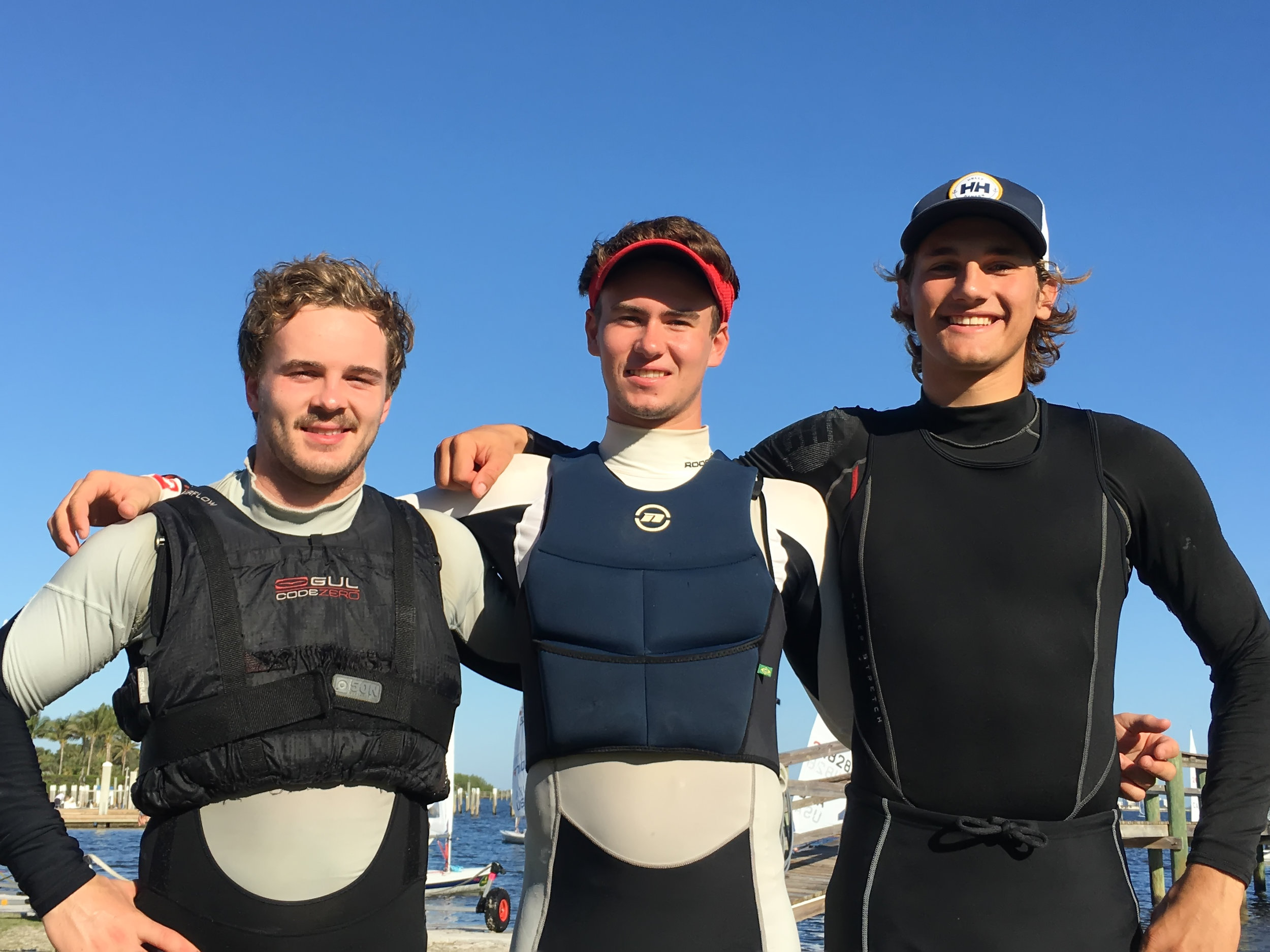 Just a few of the Ontario sailors! Matti Muru, Liam, James Juhasz