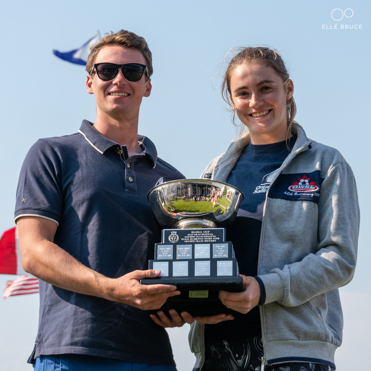 Honoured to share the Haida Cup Award with fellow Ontario Sailing Teammate Clara Gravely.