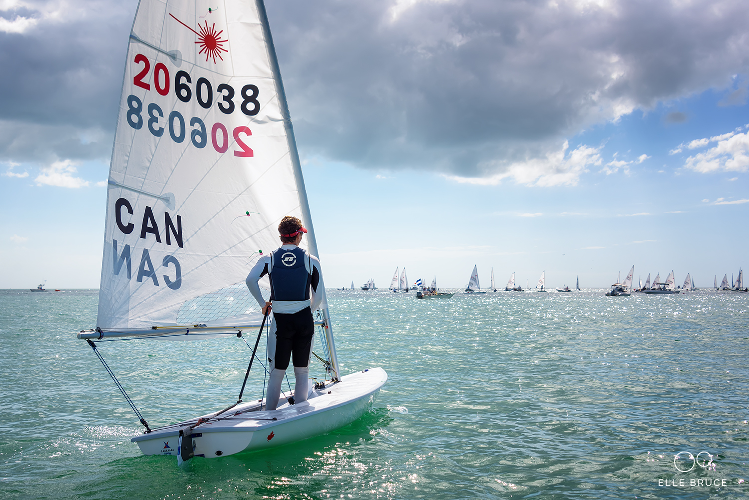 Liam Bruce - 2018 Laser Midwinters East Regatta. Clearwater Yacht Club, Florida.