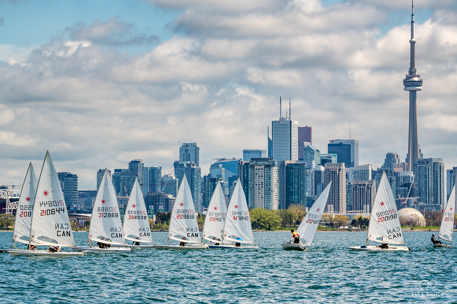 Liam Bruce - 2018 Ice Breaker Regatta at Toronto Sailing and Canoe Club in Toronto.  Sail number 206038.