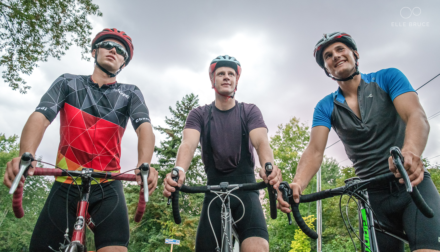 Fortunately many of my fellow Canadian Laser sailors share my interest in making cycling a key component the training program so I rarely have trouble finding others to ride with.  L to R: Liam, Luke Ruitenberg and James Juhasz