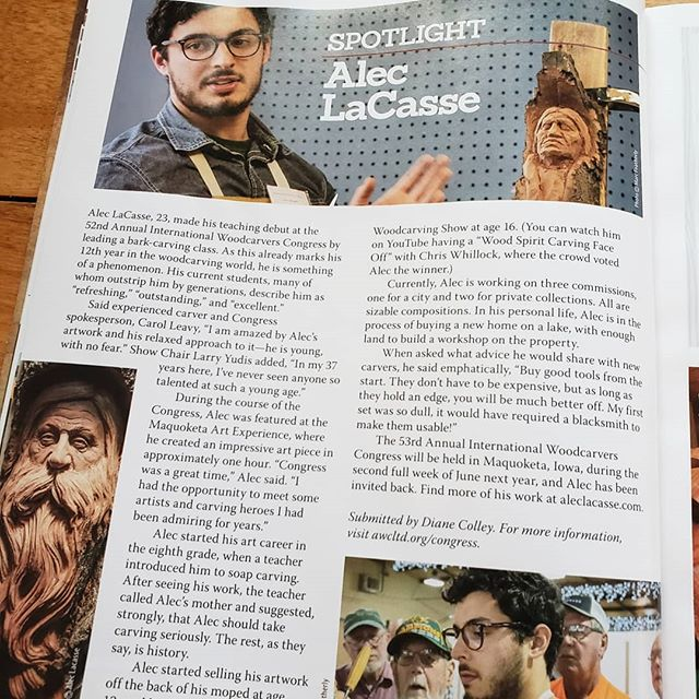 Excited to have been included in Woodcarving Illustrated's Winter 2018 Issue! When I was a kid I would walk past this magazine on the rack and dream about being in it. I am grateful to the kind folks who made it possible.