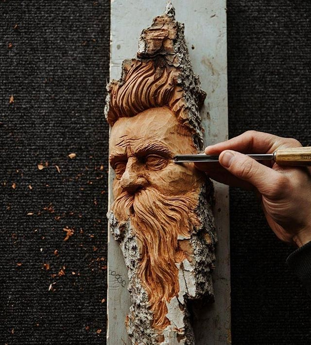 Had so much fun meeting up with @juliadenaephoto in rural Ohio to make this carving. Thanks to her for shooting the process of creating this carving for Woodcarving Illustrated. More pictures to come!