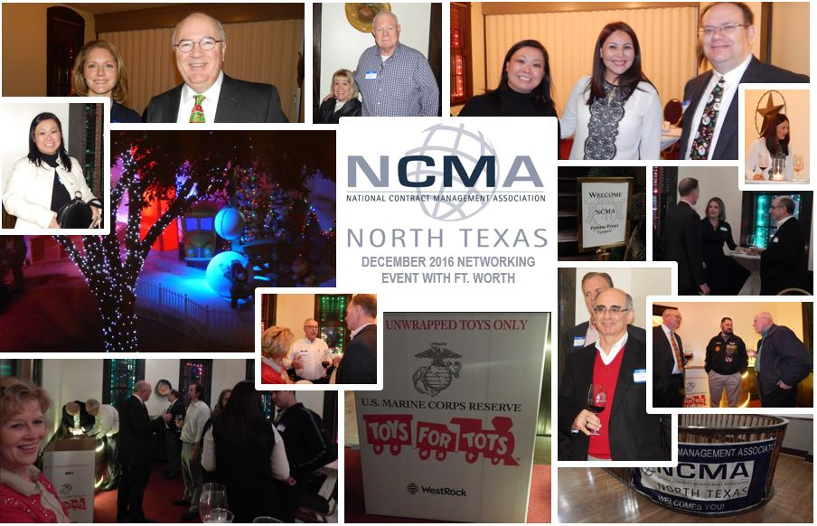 DECEMBER 2016. HOLIDAY NETWORKING EVENT & TOY DRIVE. IN COLLABORATION WITH NCMA FT. WORTH CHAPTER. GRAPEVINE, TX.
