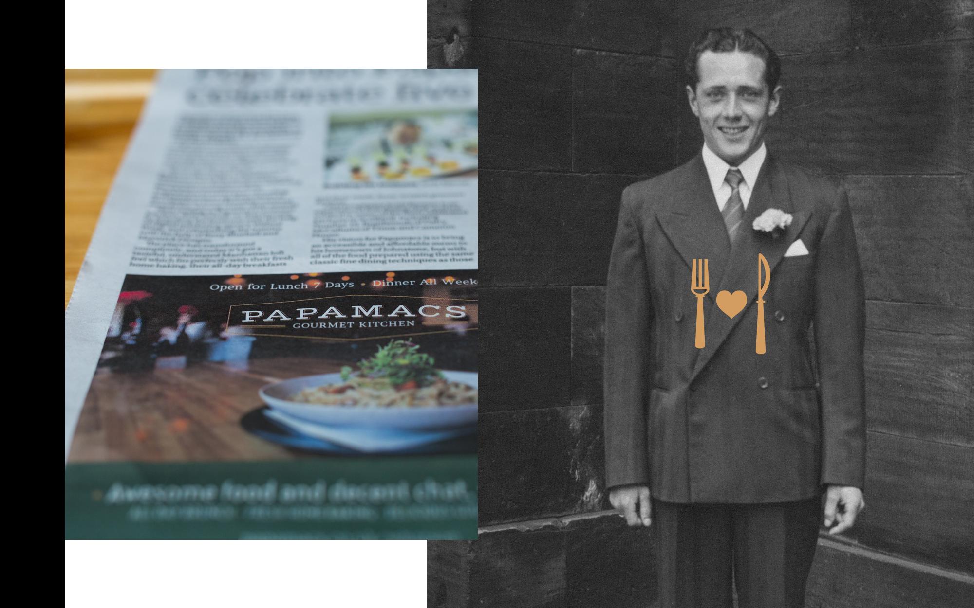restaurant-glasgow-PR-newspaper-heritage-retro-photo-papamacs.png