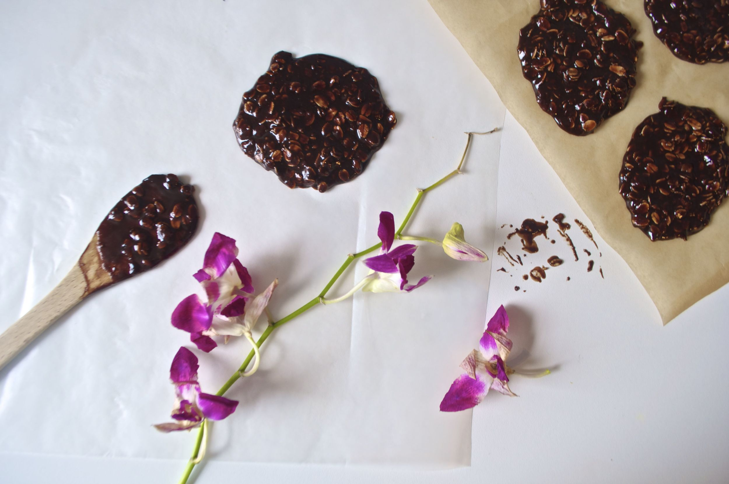 chocolate-almond-oat-no-bake-cookies-vegan