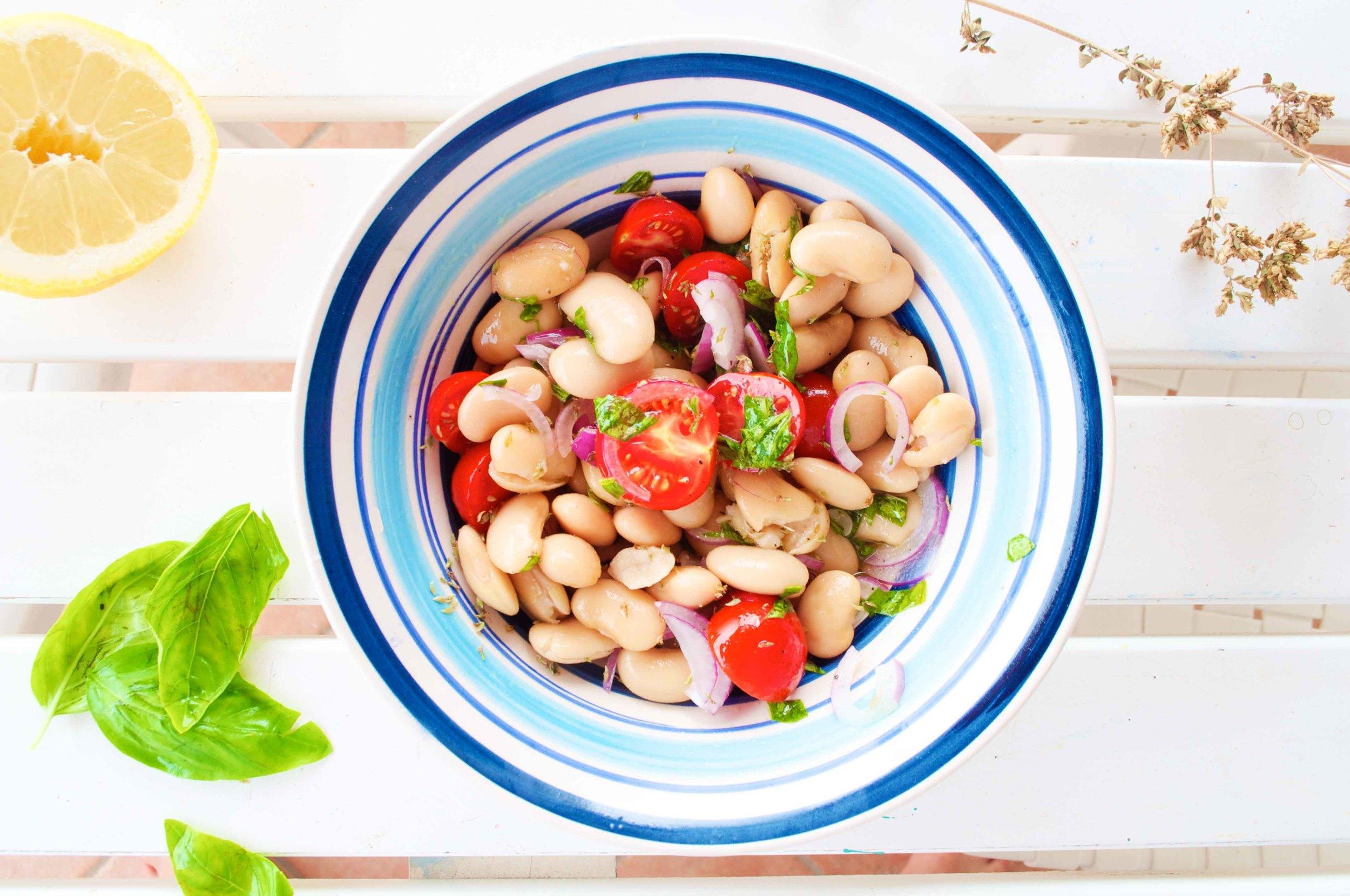 simple-bean-salad-fried-parsley