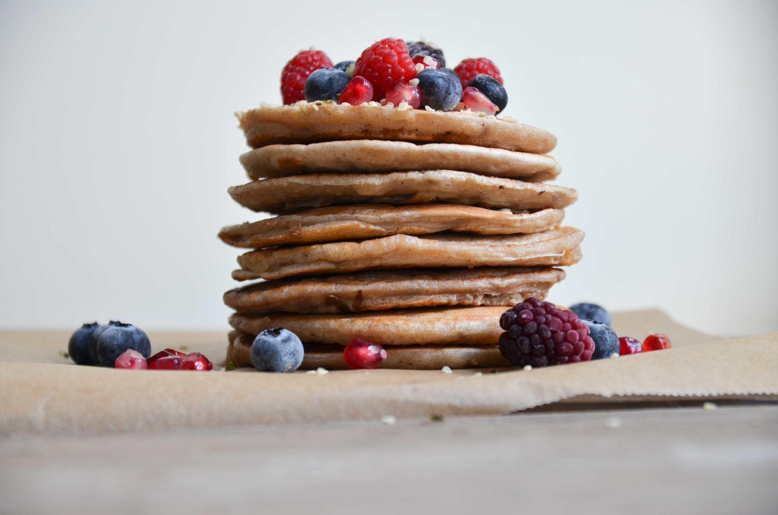 Fluffy Vegan pancakes by fried parsley