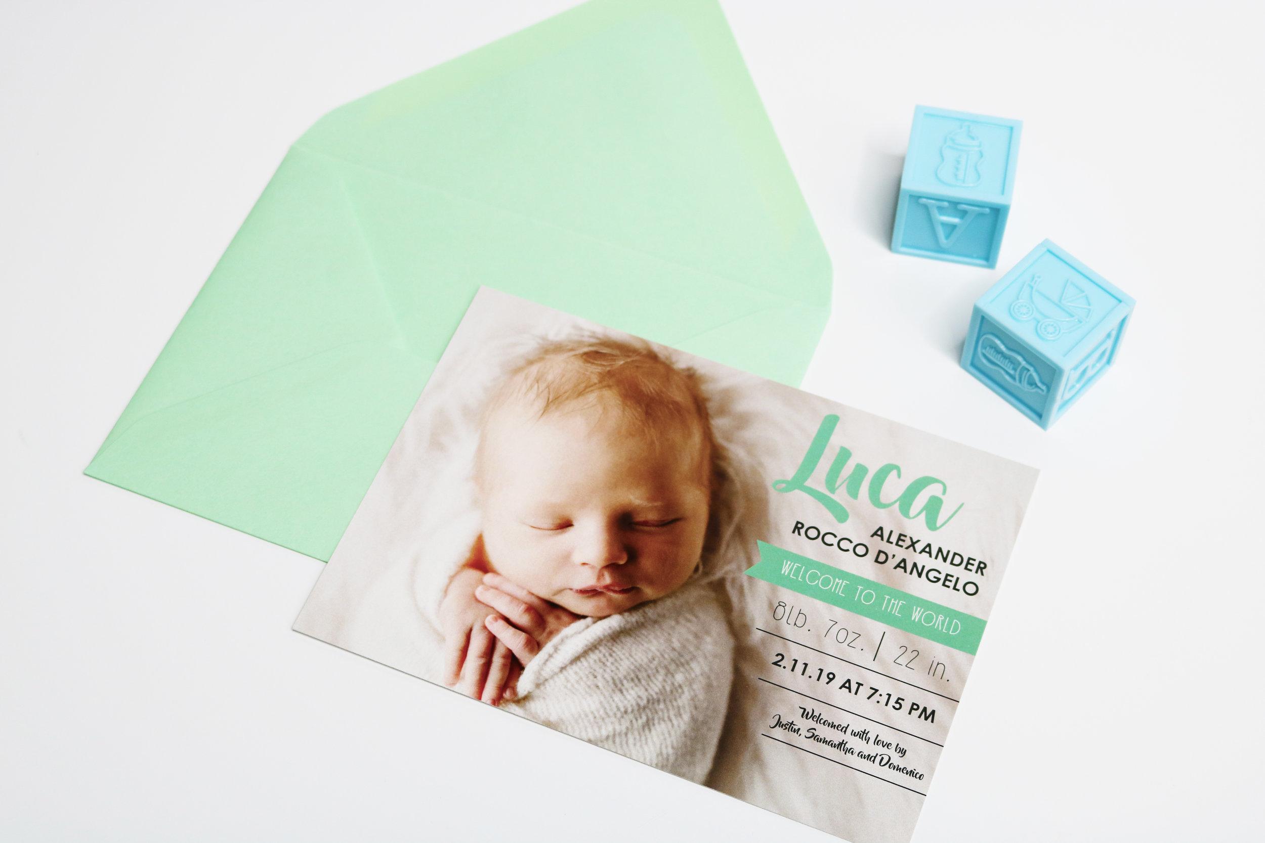 LUCA | BIRTH ANNOUNCEMENTS