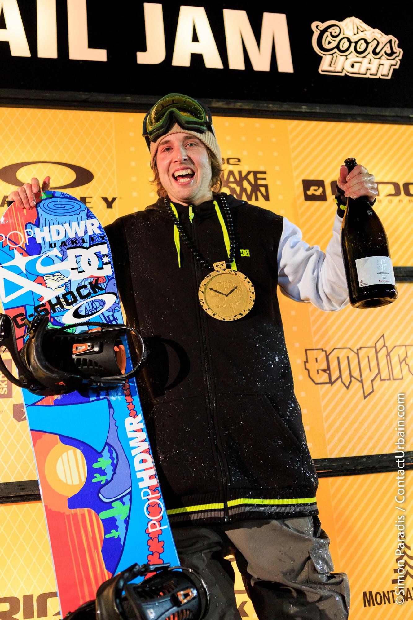 Jeremy Cloutier, winner of Ride Shakedown 2013 - Saint-Sauveur, Qc