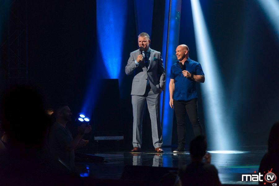 Dominic Paquet et Maxime Martin, animateurs du Gala Juste pour Rire, Célibataire VS Couple 2016