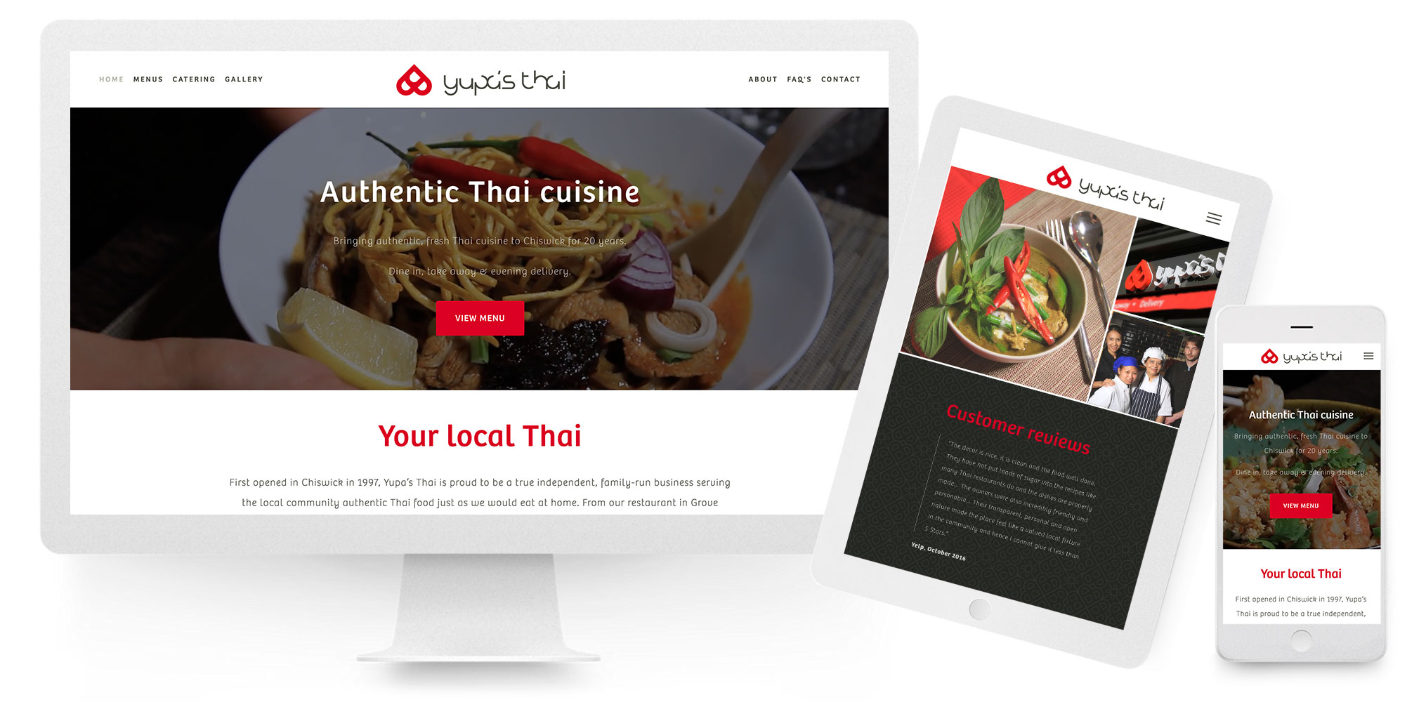 Yupa's Thai Restaurant website