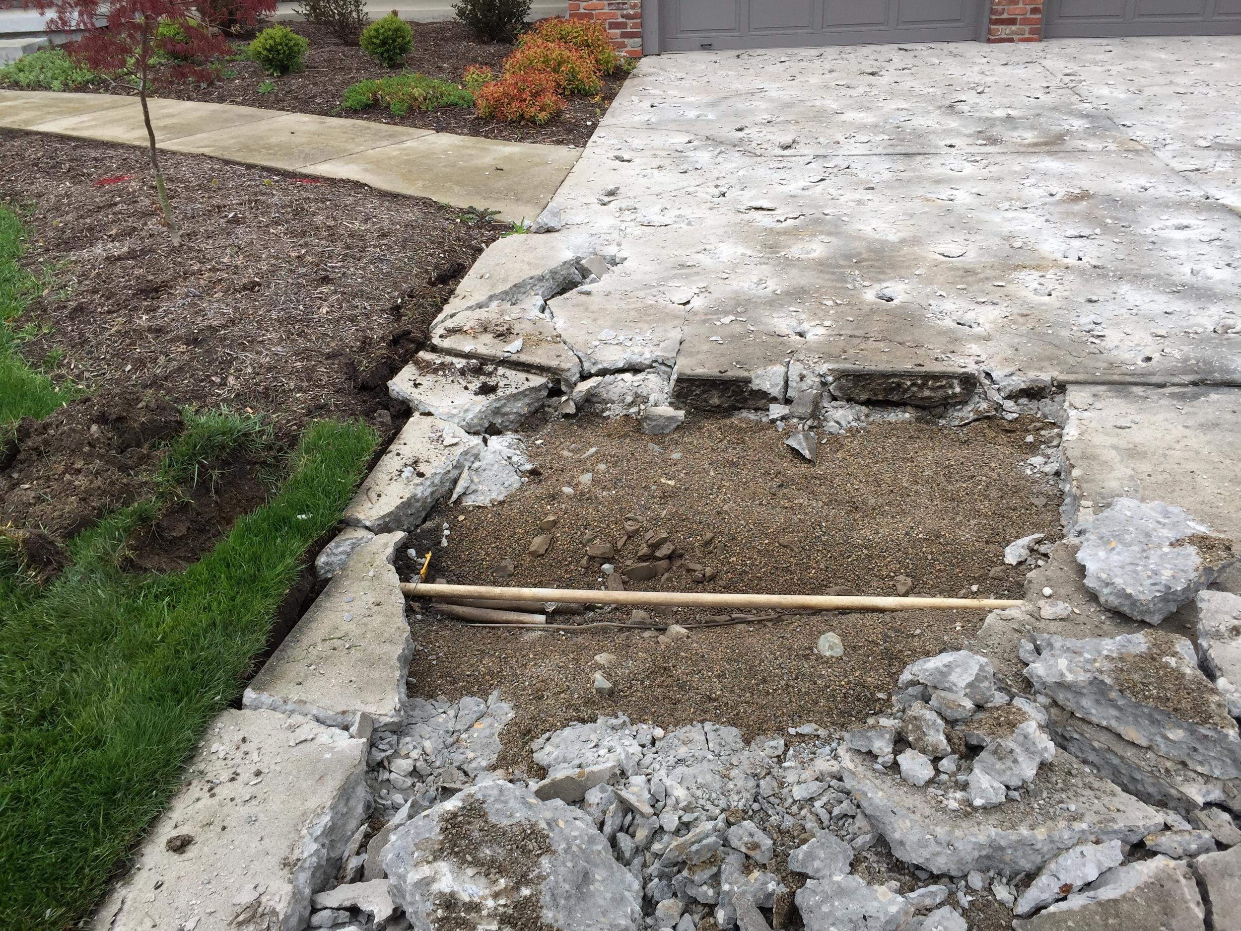 Hidden Pipes Beneath Concrete