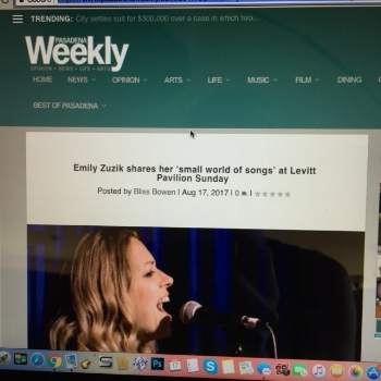 Read the Pasadena Weekly interview and show preview  for Aug 20 Levitt Pavilion Pasadena show.