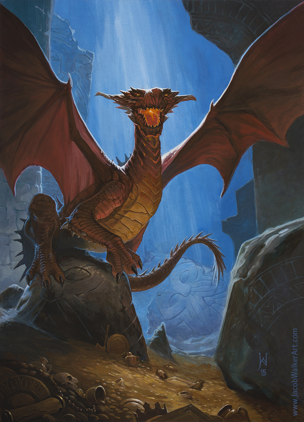 The Red Dragon is the classic Dungeons & Dragons or Pathfinder RPG foe. Adventurers beware!