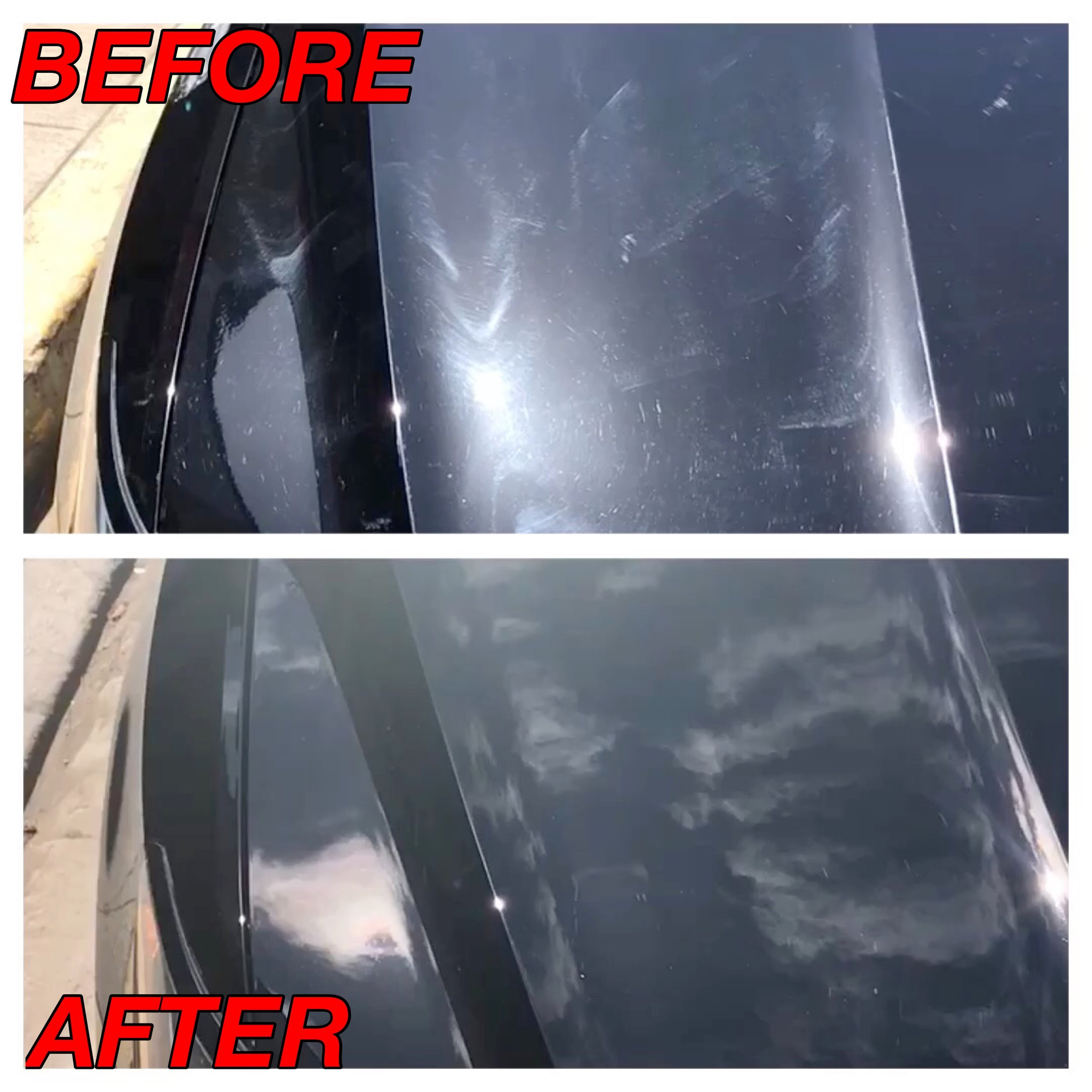 Buffer Trail Removal Holograms Black Paint Correction