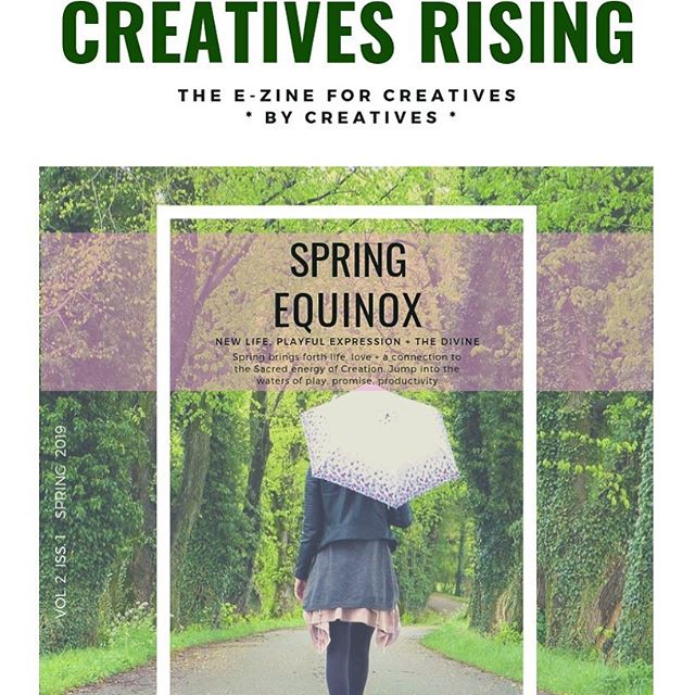 No mandala post today, but... Exciting news!!! My poem & mandala Awakening will be featured in the spring issue of Creatives Rising E-Zine!!! It comes out very soon...(Link in bio).