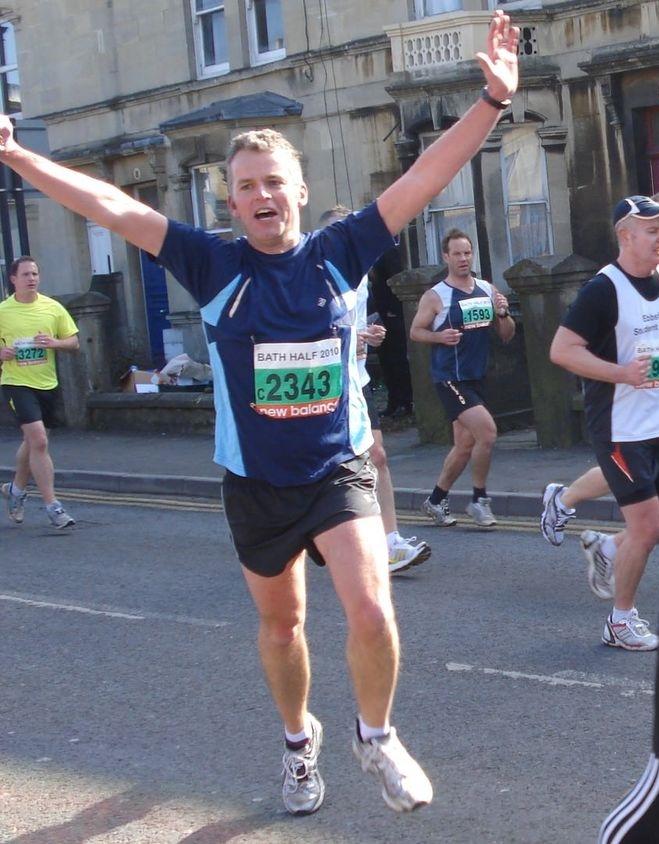 Mr Kevin Turner running the Bath Half Marathon in 2010