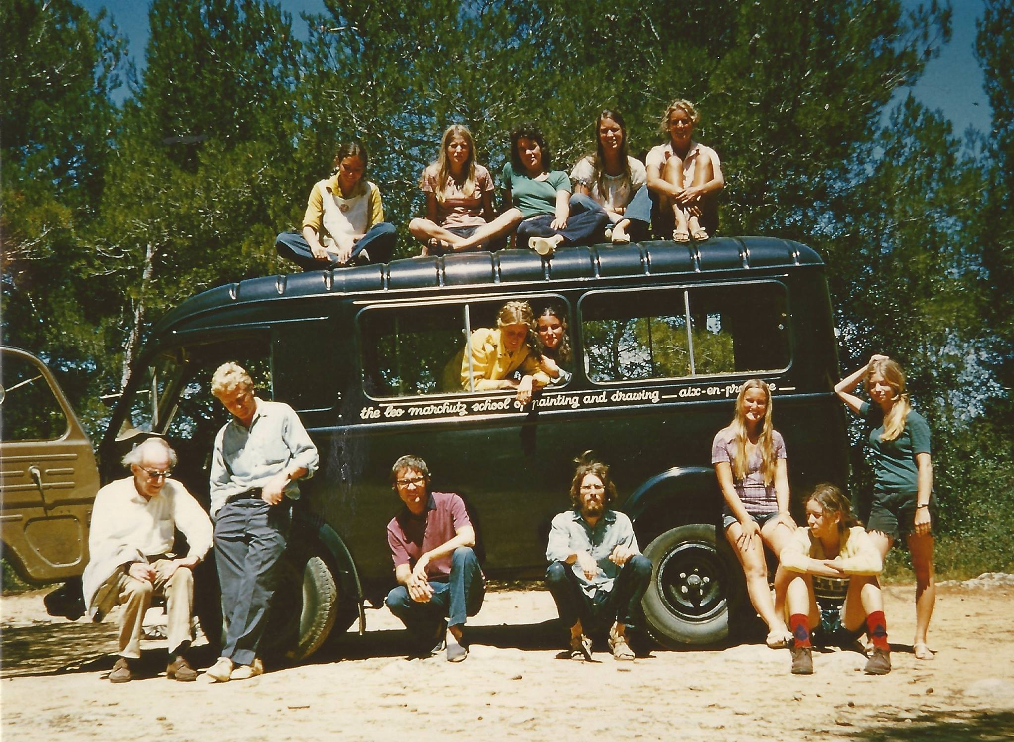 Students in the first session of the Marchutz school, ca. summer 1972.