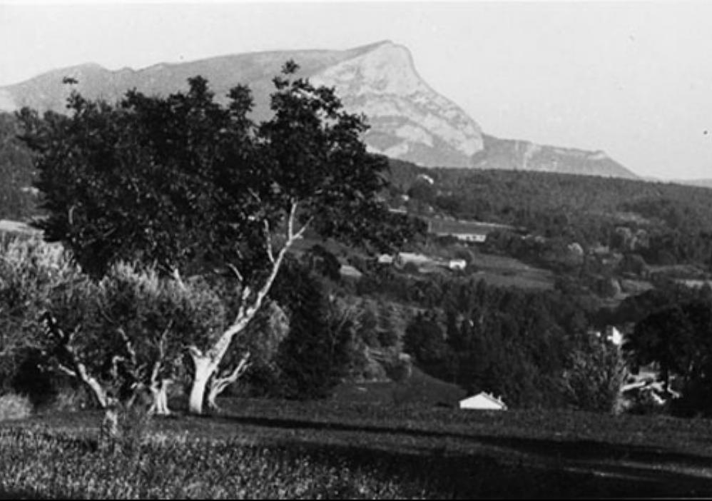 Le Mont Saint Victoire seen from Les Lauves.