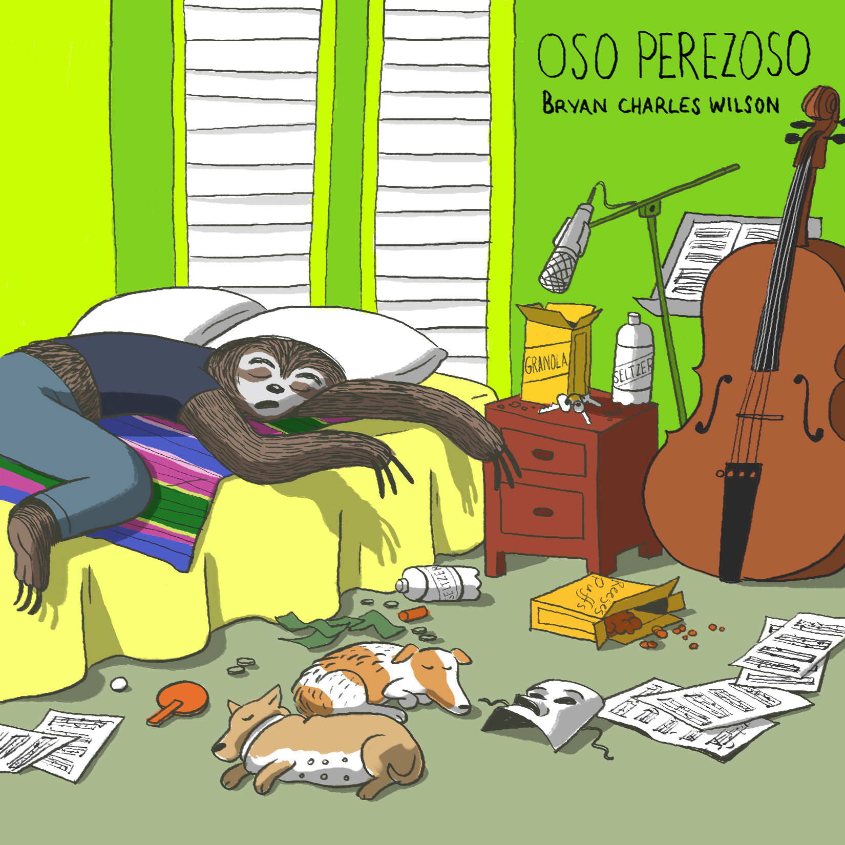 Oso Perezoso album artwork by  Miranda Tacchia