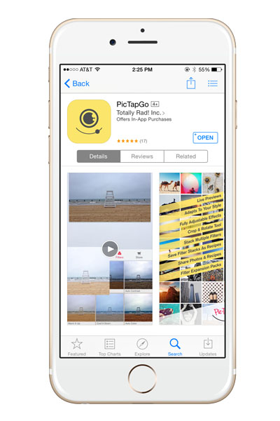 pic-tap-go is hand's down the best photo editing app for the iphone. Get professional quality editing on-the-go.