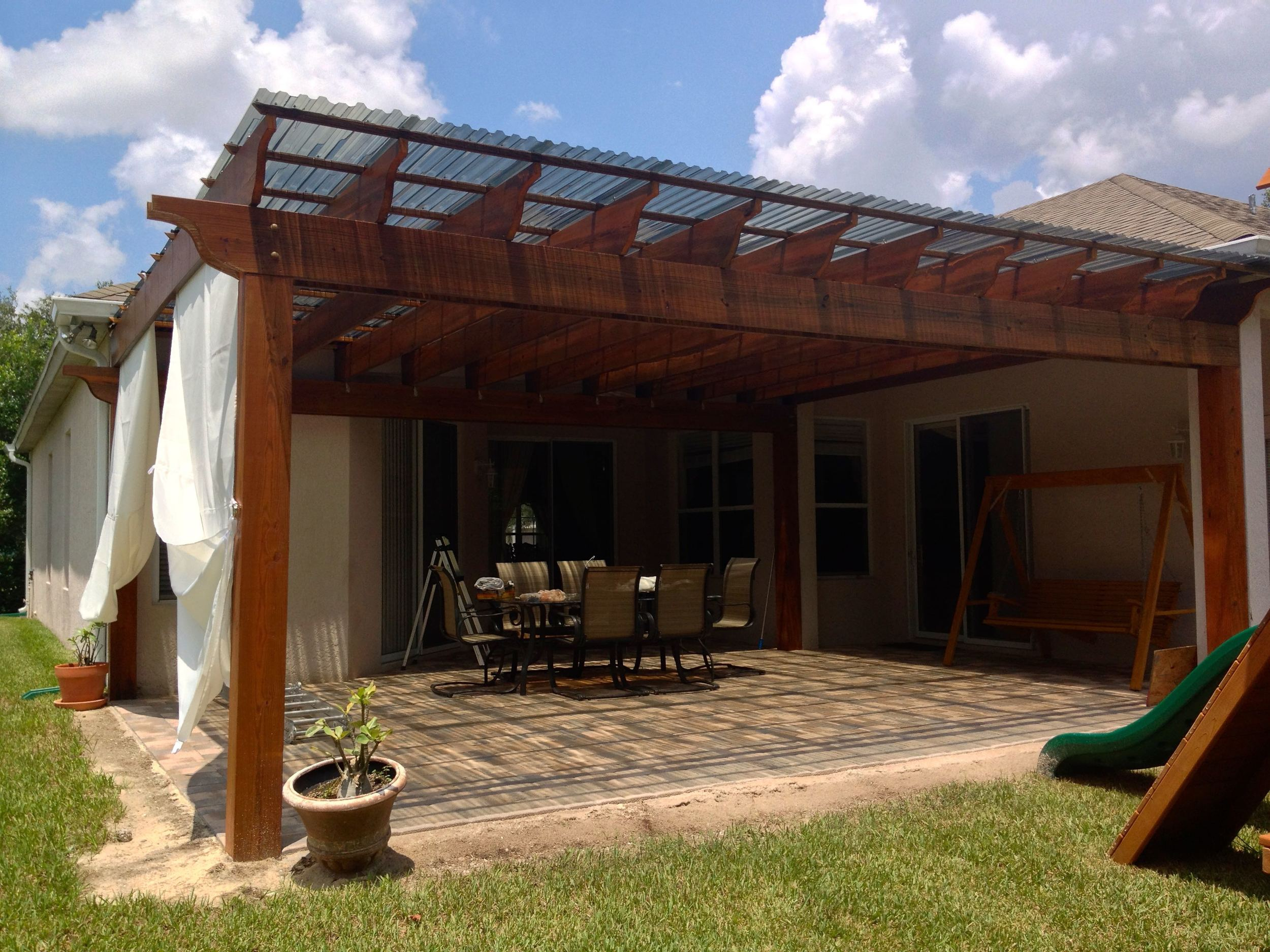 Pergola with See-through Covering