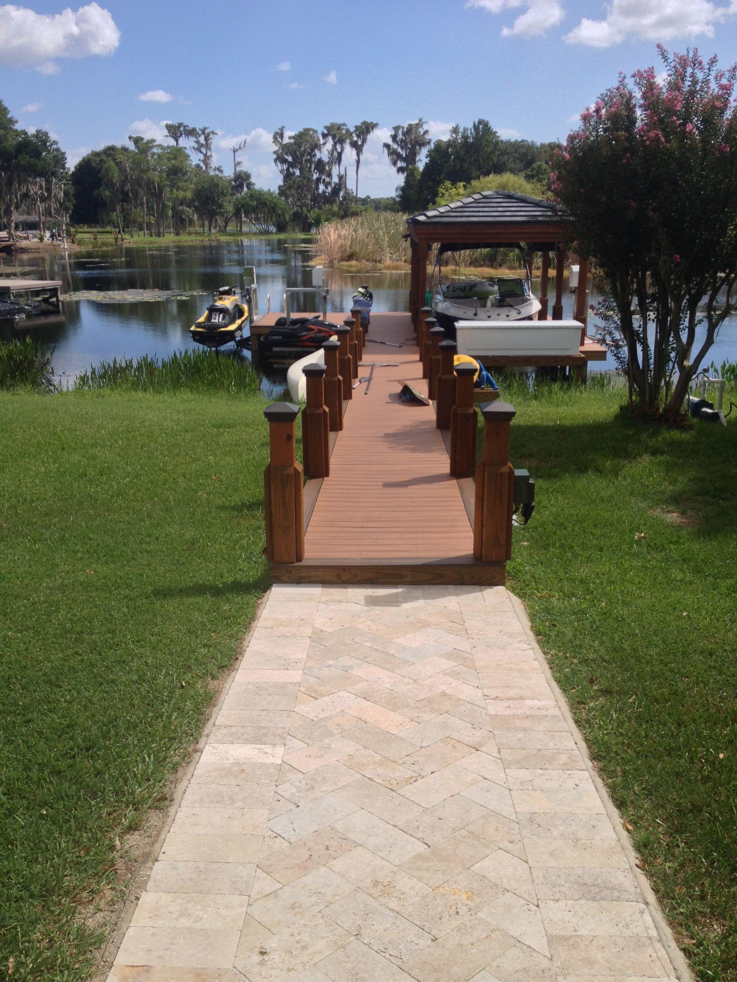 Boat Dock with Walkway