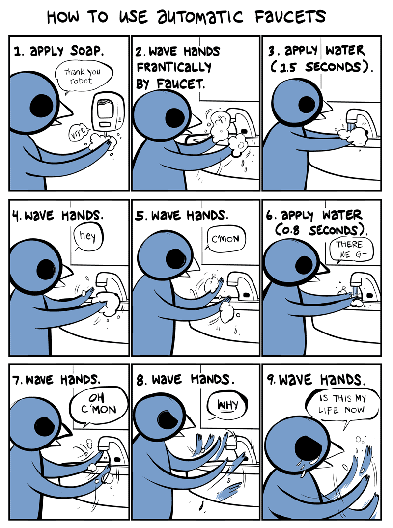 Automatic faucets by Nedroid.