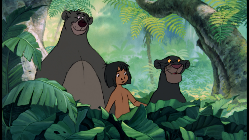 Baloo, Mowgli and Bagheera from the Jungle Book