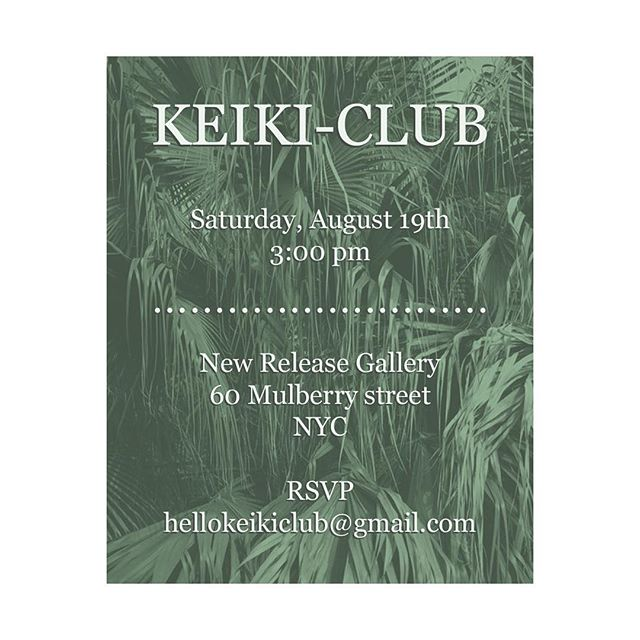 #keikiclub will be meeting at 3pm on Saturday at @newreleasegallery !  Come by and trade some clippings! 🌿