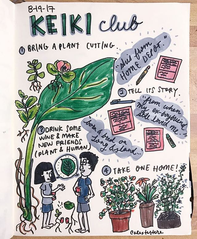 Thank you so much to everyone who came to #keikiclub at @newreleasegallery yesterday. @alextestere made this amazing illustration of yesterday's meet up that Ive been fawning over. 😍 We are currently taking submissions for our next zine.  It could be a drawing, story, photo, poem, recipe!  If you have anything you'd like to submit send it on over ~  hellokeikiclub@gmail.com