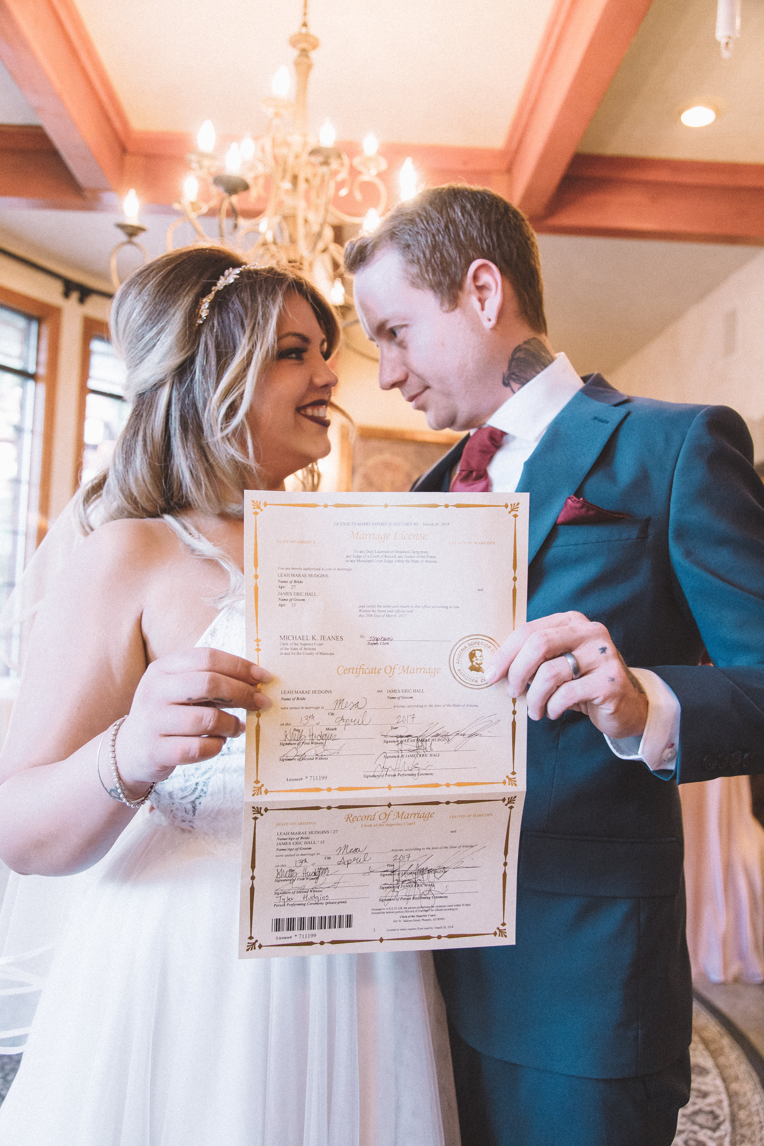 Marriage License - We have dedicated a whole blog post to getting your Marriage License (scroll down) – just know you will be spending an extra $75 and maybe more but it is necessary to seal the deal.