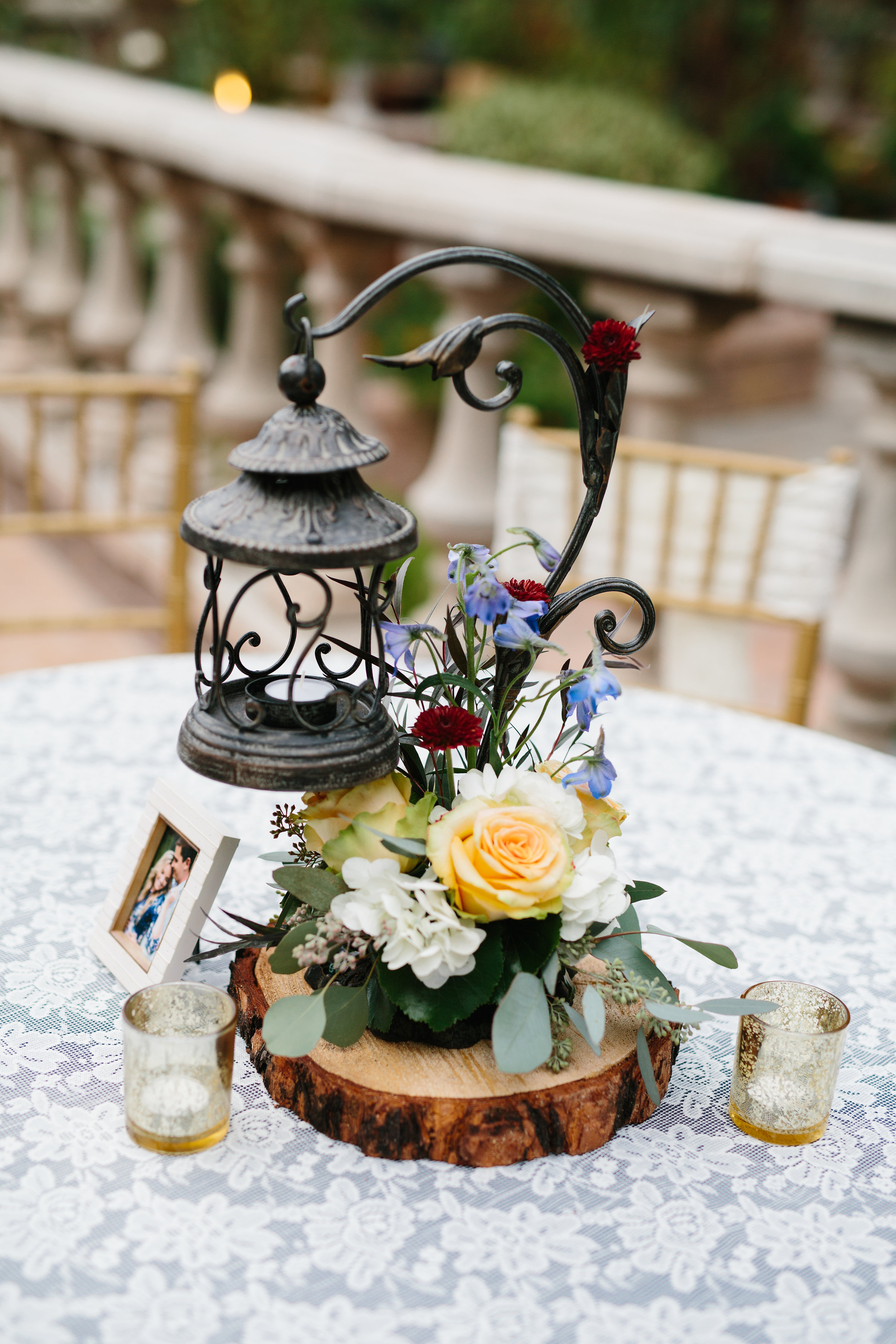 Lantern - It is our most versatile center piece of our collection. It can be rustic, charming, storybook, vintage, garden and so many other themes.