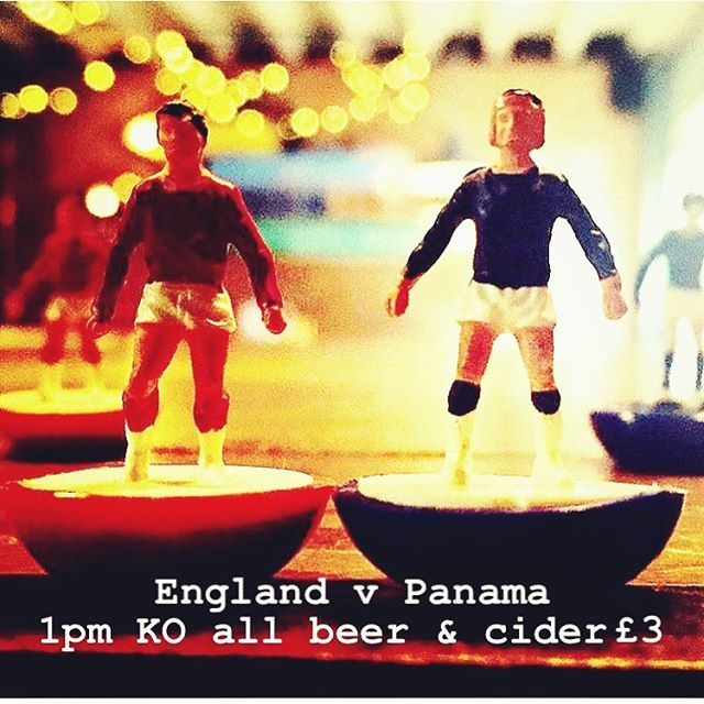 It's World Cup day and we got it all going on... gert big screens inside and out, beer and ciders all £3. Burgers and other swizzle all day. Come and watch the game somewhere a little different... #engerlandengerlandengerland #workdcup #england #worldcup #julesrimetstillgleaming #itscominghome #surelyitsouryear #subhouse #subhousewells #barmyarmy #princesroad #gazzagazzagiveusawave