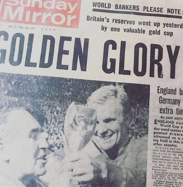 Yes we have the actual papers from 66 will those headlines be rewritten next Monday?? and we have that game everyone is talking about showing live on the screens tonight... flinging open the doors at 4 and serving a special World Cup menu till 7... you know what's happening after that!! #burgers #beer #cider #ich #4bud4atenner #worldcupmadness #julesrimetstillgleaming #russia #worldcup2018 #outsidescreen #wells #somerset #bringyourwhistlesbringyourflagscoswearegonnahaveafootballlpartytonight