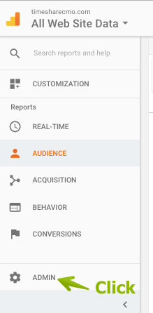 A. Locate the Admin Tools in GA's Navigation Bar