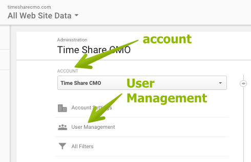 B. Click User Management In The Account Section