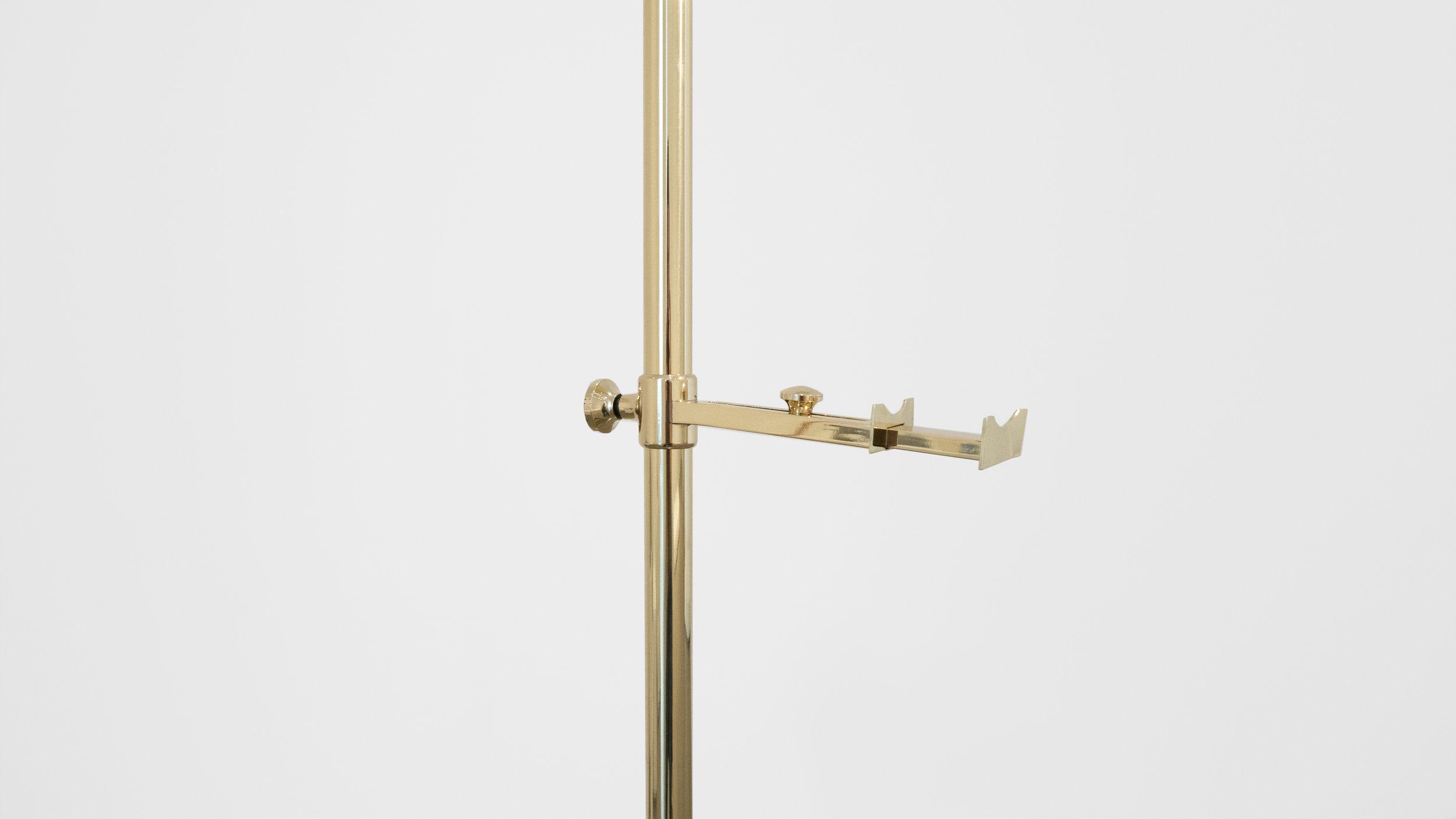 Angelo Lelli Easel Lamp for Arredoluce, c. 1950-1959, Brass, 82 H x 22.5 W x 33 D inches_2.jpg