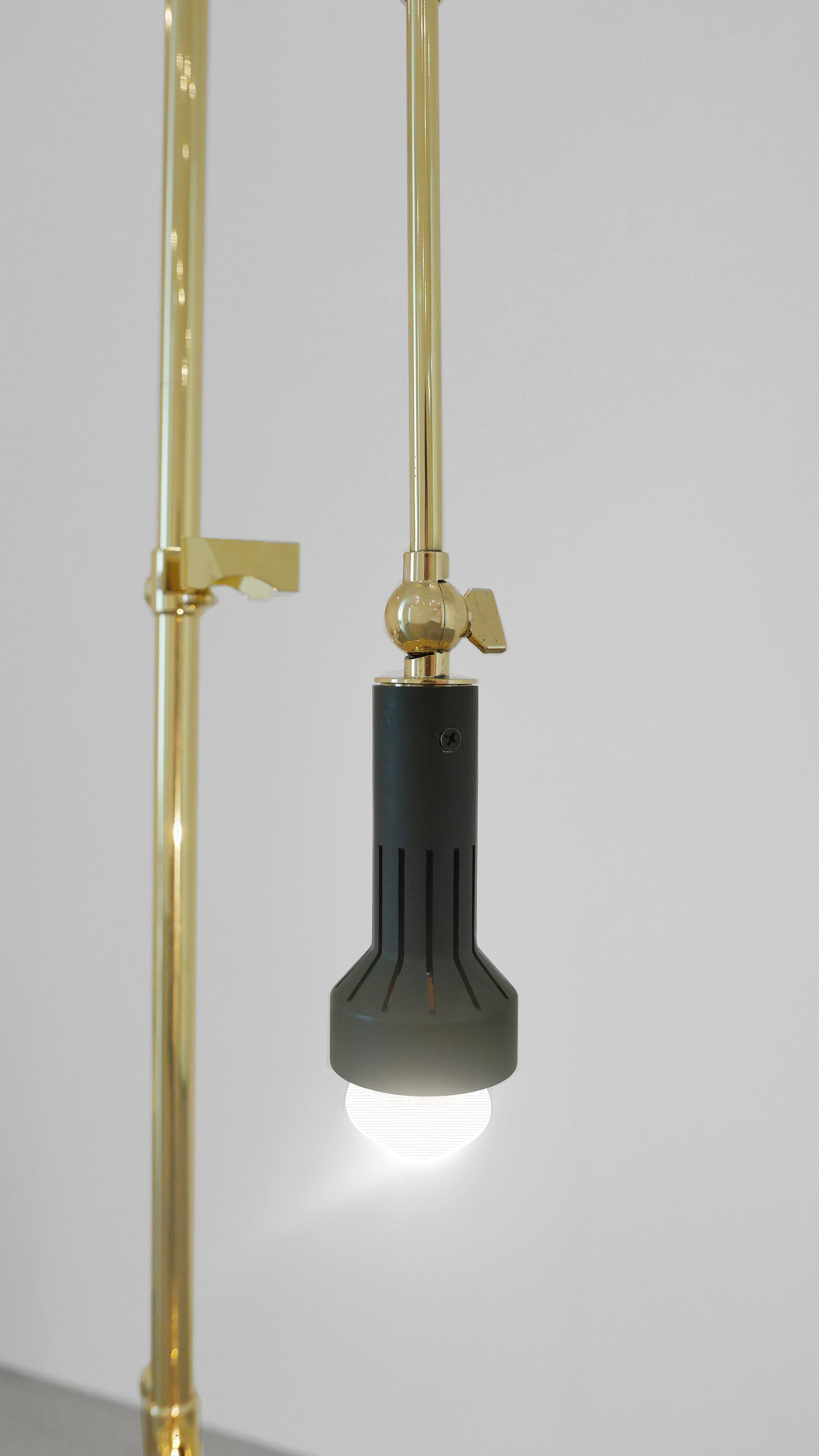 Angelo Lelli Easel Lamp for Arredoluce, c. 1950-1959, Brass, 82 H x 22.5 W x 33 D inches_3.jpg