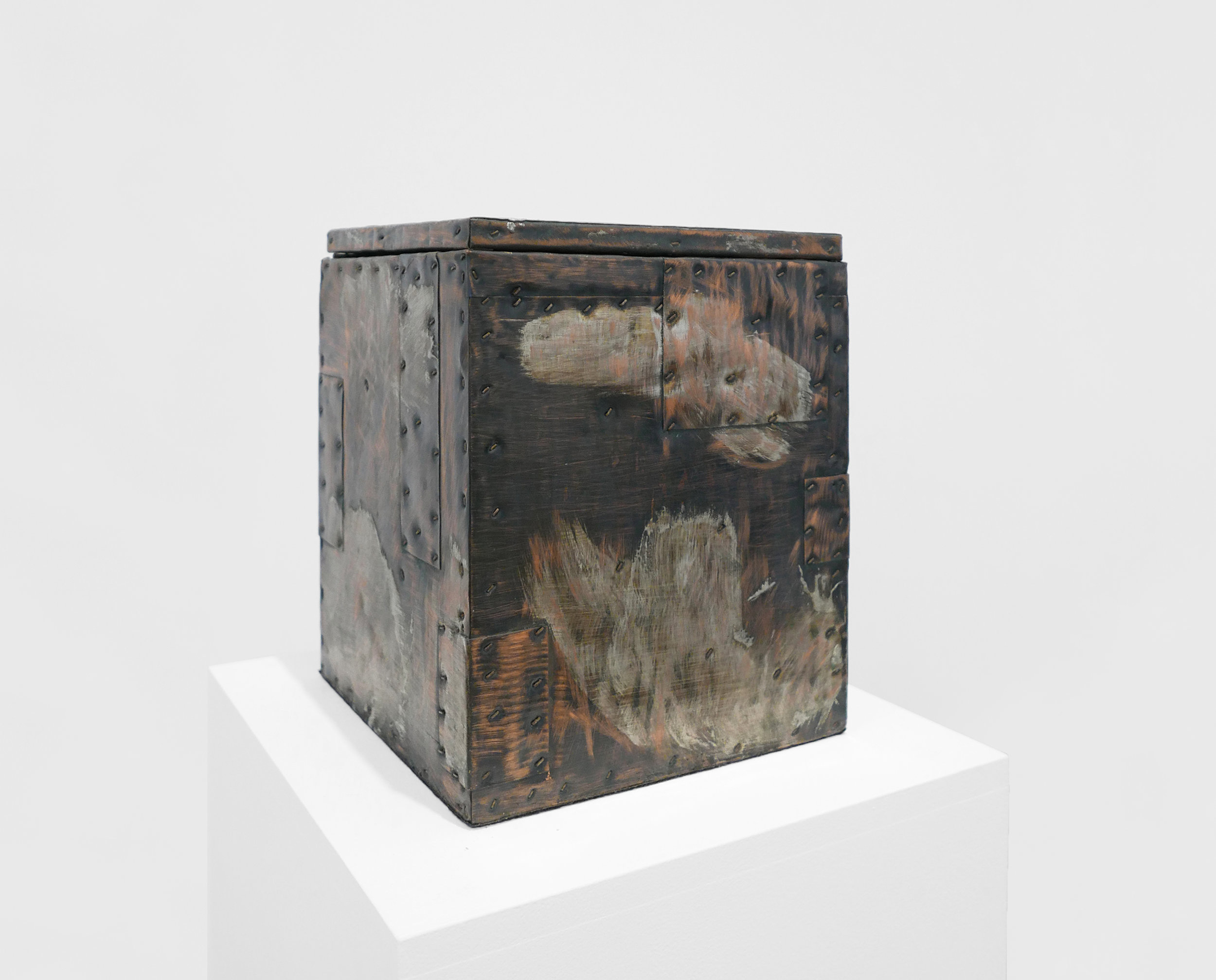 Paul Evans Lidded Box c. 1965, Patinated Copper, Steel and Brass, 13.25 x 10 x 10%22_1.jpg