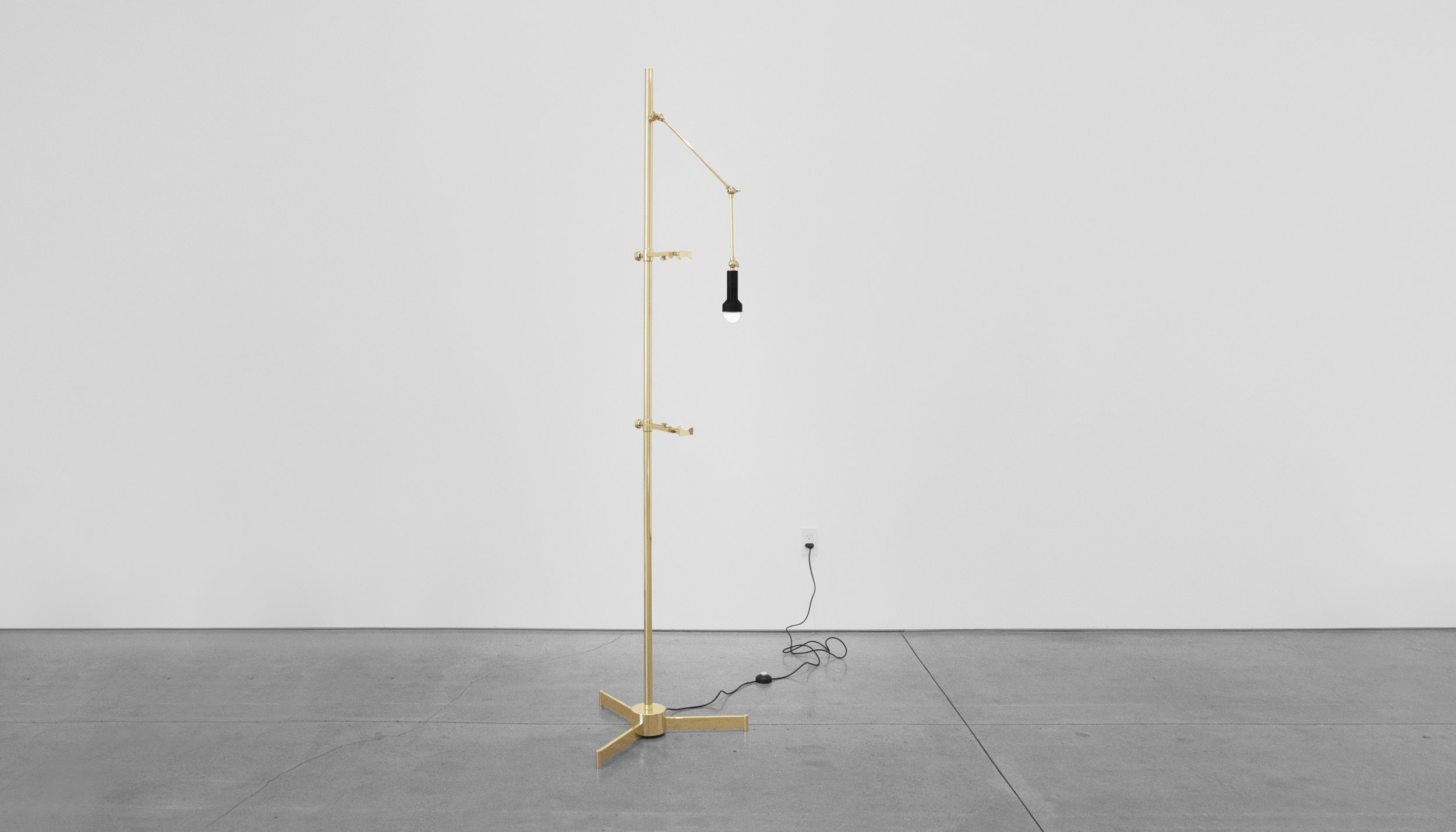 Angelo Lelli Easel Lamp for Arredoluce, c. 1950-1959, Brass, 82 H x 22.5 W x 33 D inches_4.jpg